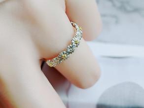 イエローダイヤモンドのマーガレット ディアマンring