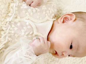マーガレットが花ひらく5月生れのKanonちゃんのbaby ring
