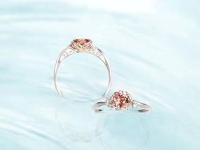 蓮の色の宝石~パパラチアサファイアのために作られたリング