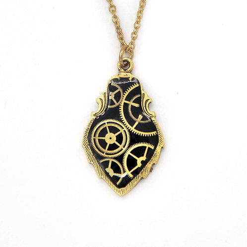 Crest Gold Necklace