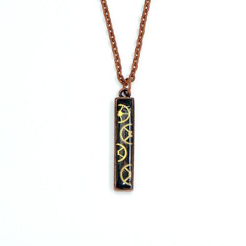 Vertical Bar Copper Necklace