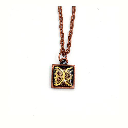 Small Square Copper Necklace