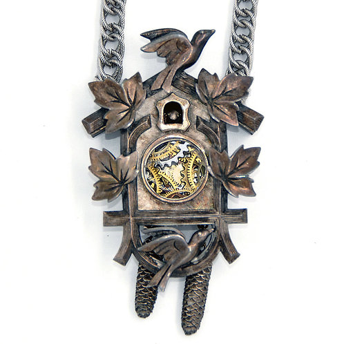 Vintage Trifari Cuckoo Clock Necklace