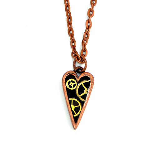 Small Heart Copper Necklace