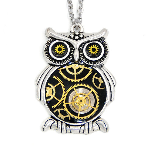 Large Owl Silver