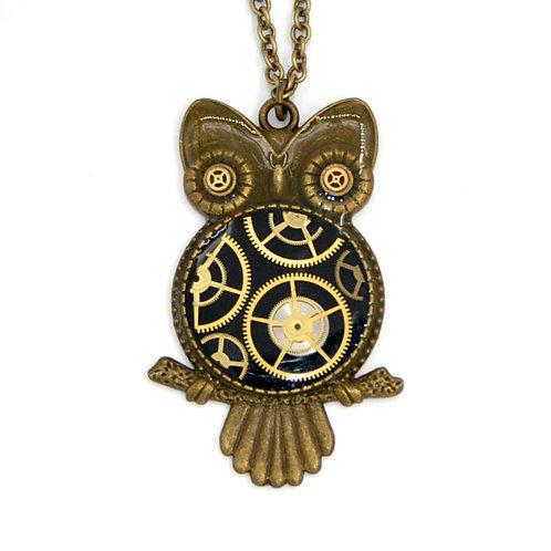 Large Owl Brass