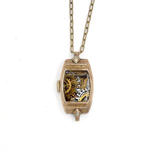 Vintage Watch Casing Necklace