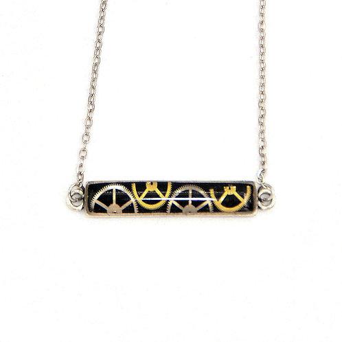 Bar Silver Necklace