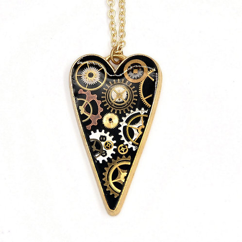 Large Heart Gold Necklace