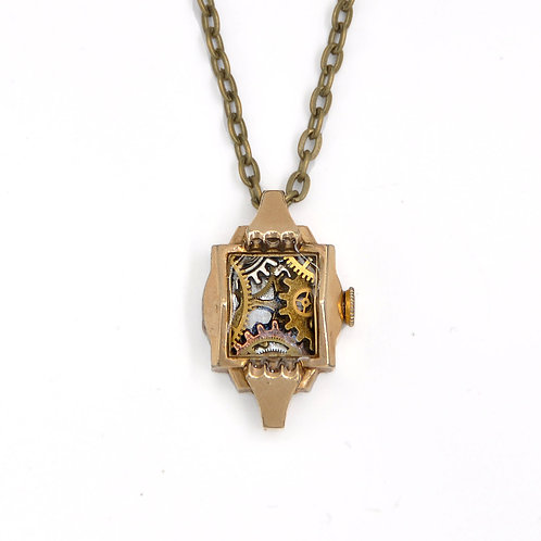 Vintage Watch Casing Necklace