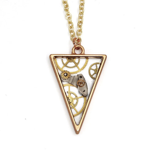 Transparent Triangle Gold Necklace