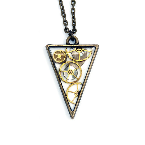Transparent Triangle Brass Necklace
