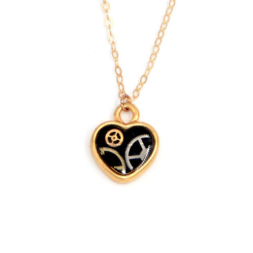 Small Heart Gold Necklace