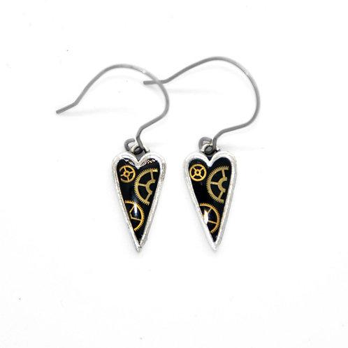 Small Heart Silver Earrings