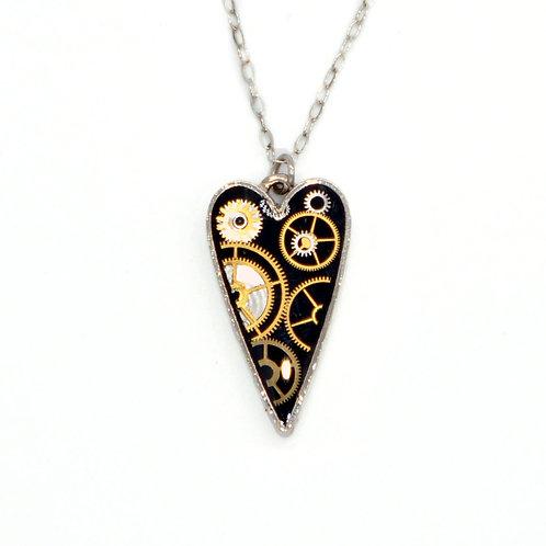 Medium Heart Silver Necklace