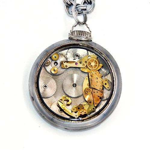 Seahorse Pocket Watch Necklace