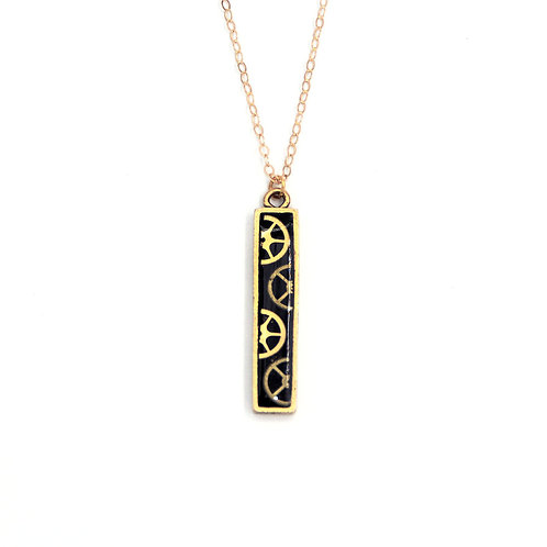 Vertical Bar Gold Necklace