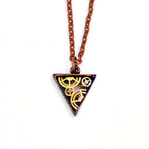Small Triangle Copper Necklace