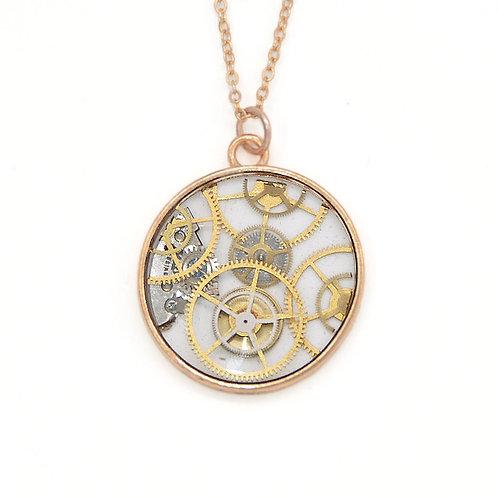 Transparent Circle Gold Necklace