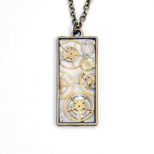 Transparent Rectangle Necklace
