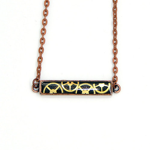 Bar Copper Necklace