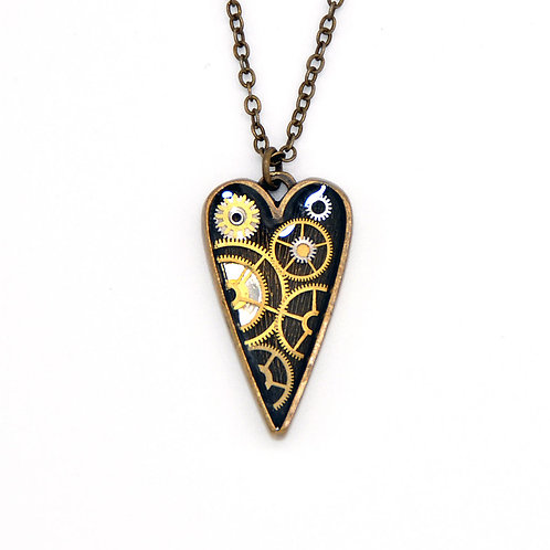 Medium Heart Brass Necklace