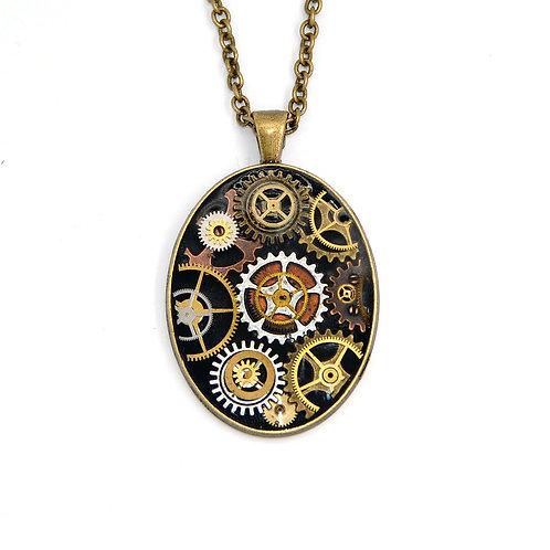 Large Oval Brass Necklace