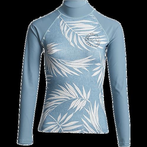 Billabong Surf Capsule Ladies Long Sleeve Rash Vest Sea Blue