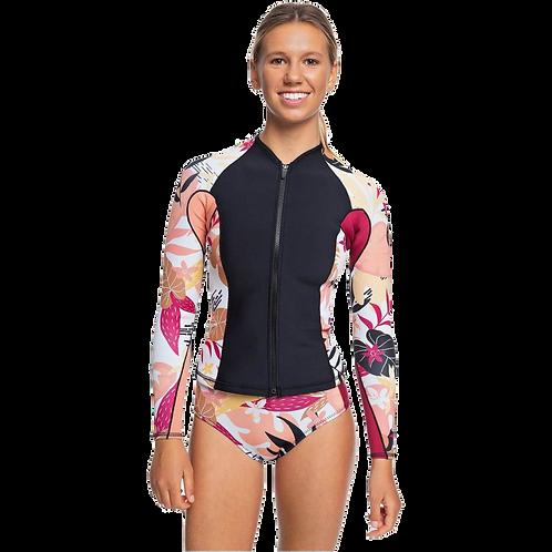 Roxy 1mm Pop Surf Front Zip Wetsuit Jacket