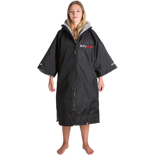 Dryrobe Advance Short Sleeve Changing Robe Grey XS