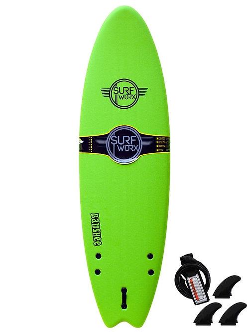 Surfworx Banshee 6'6 Hybrid Soft Surfboard