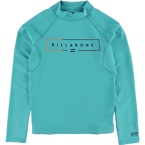 Billabong Kids Unity Long Sleeve Rash Vest Aqua