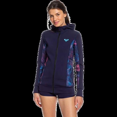 Roxy 1mm Hooded Front Zip Wetsuit Jacket
