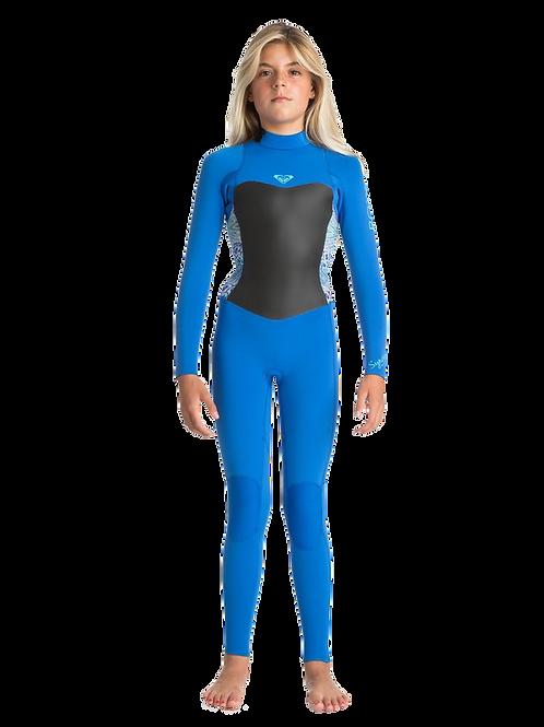 Roxy 3/2mm Girls Syncro Backzip Sea Blue