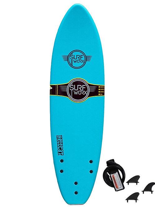 Surfworx Hellcat 6'6 Mini Mal Soft Surfboard