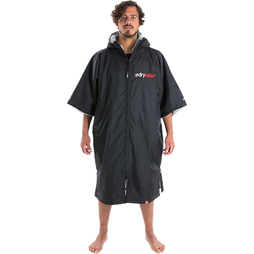 Dryrobe Advance Short Sleeve Changing Robe Grey