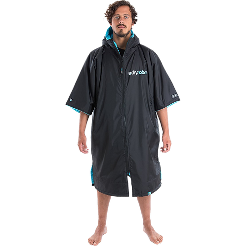Dryrobe Advance Short Sleeve Changing Robe Blue