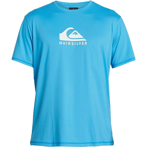 Quiksilver Mens Solid Streak Loose Fit Short Sleeve Rash Vest