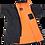 Thumbnail: Dryrobe Advance Short Sleeve Changing Robe Orange