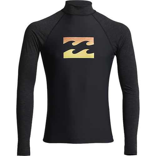 Billabong Mens Team Wave Long Sleeve Rash Vest Black