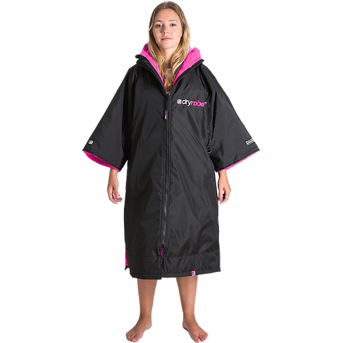 Dryrobe Advance Short Sleeve Changing Robe Pink
