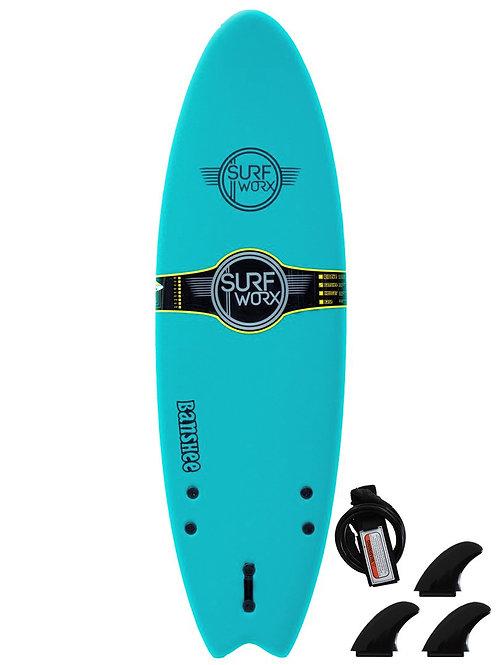 Surfworx Banshee 6ft Hybrid Soft Surfboard