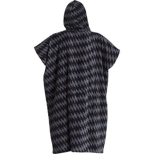 Billabong Mens Hooded Poncho Grey Diamonds