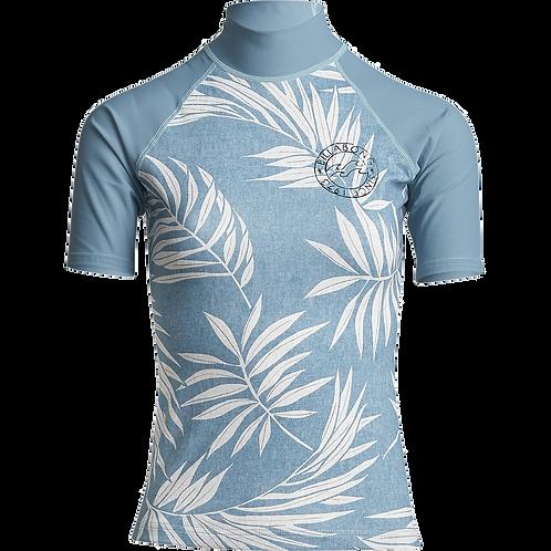 Billabong Surf Capsule Ladies Short Sleeve Rash Vest Sea Blue