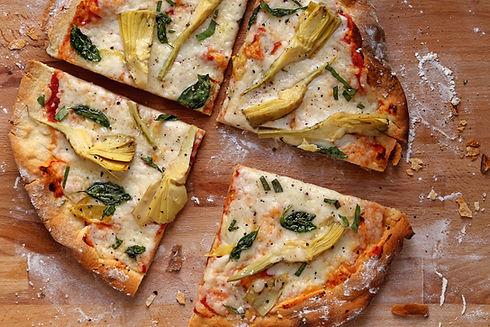 alcachofa pizza