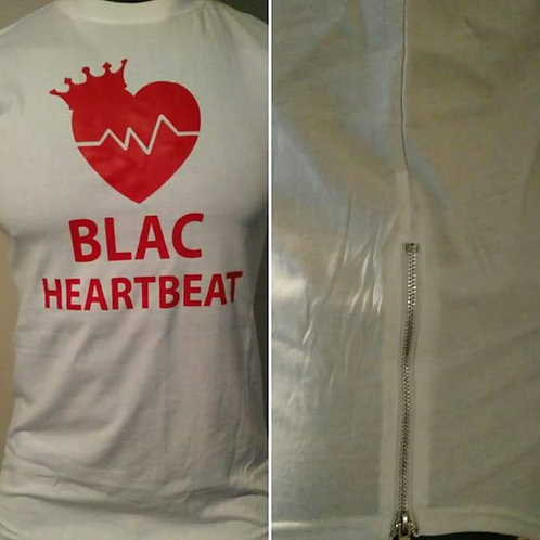 BLAC Heartbeat Premium White and Red w/ Side Zippers