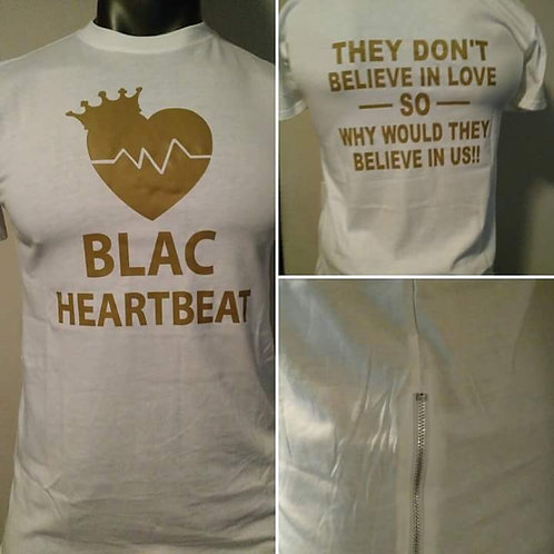 BLAC Heartbeat Premium White and Gold w/ Side Zippers