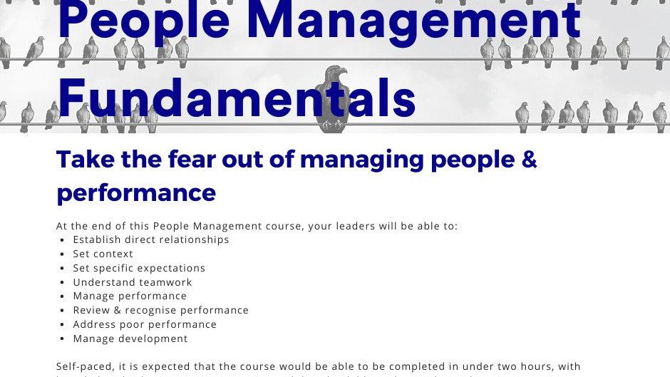 PEOPLE MANAGEMENT TRAINING