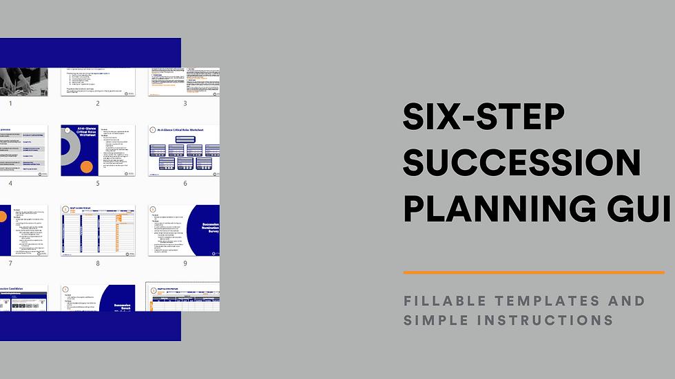 Six Step Simple Succession Planning Framework