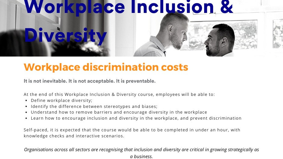 WORKPLACE INCLUSION & DIVERSITY TRAINING